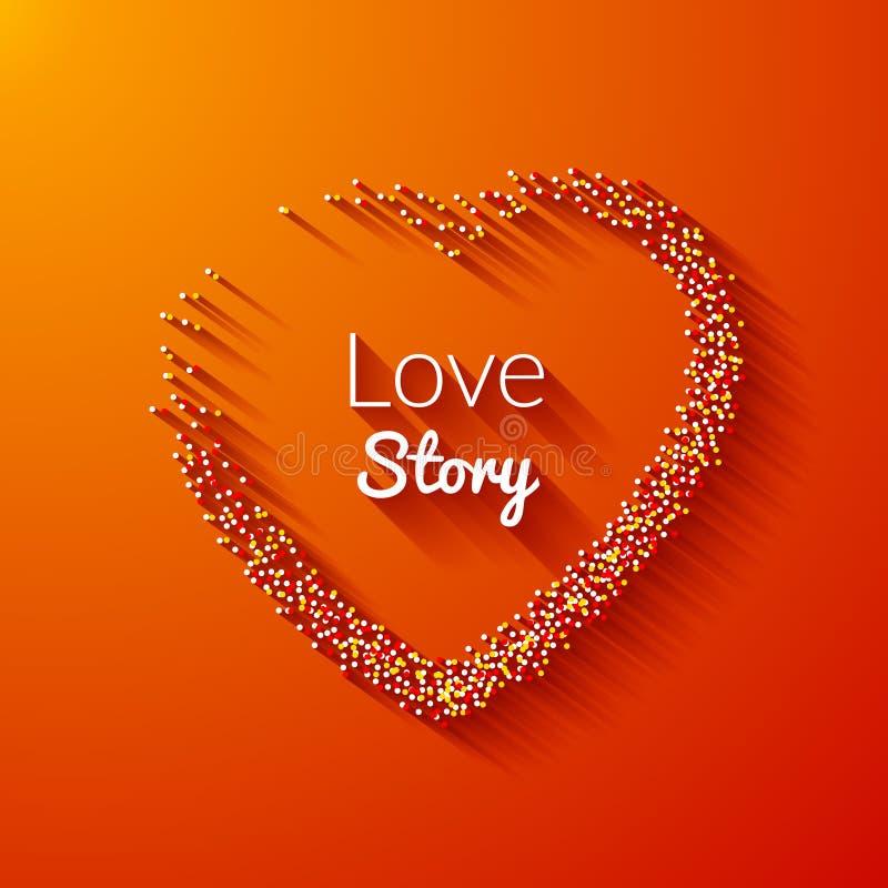 Valentine Dot Background mit Herzform Mädchen und Junge küssen im Garten Glücklicher Valentine Day Holiday-Hintergrund vektor abbildung