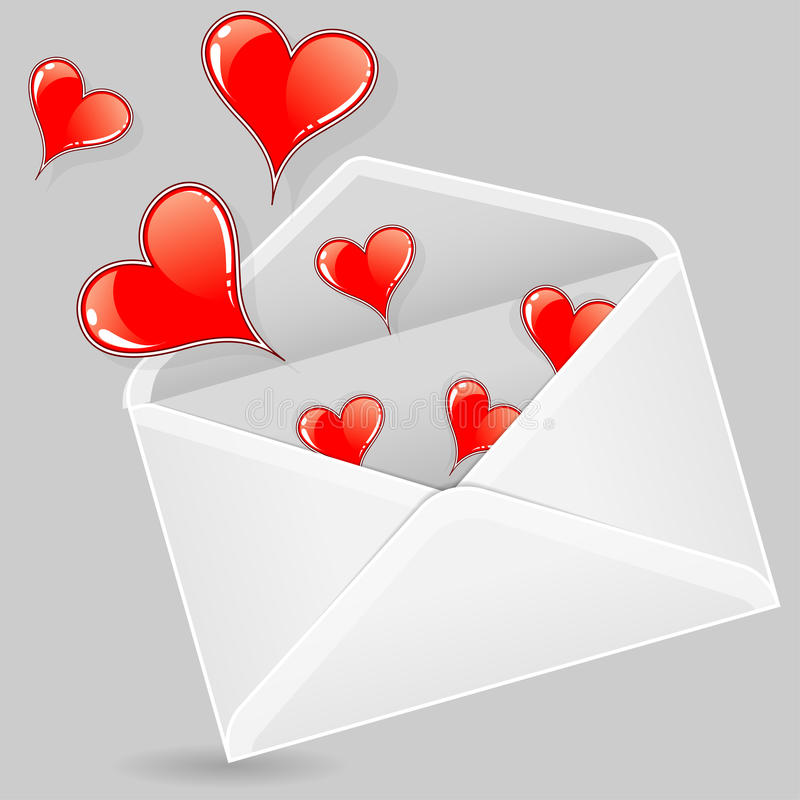 Download Valentine Envelope stock vector. Image of icon, sign - 22928114