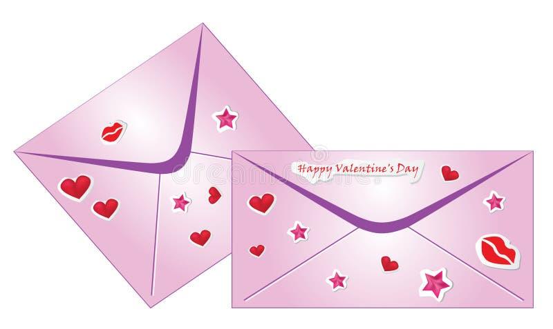 Download Valentine envelopes stock vector. Image of paper, background - 12288831
