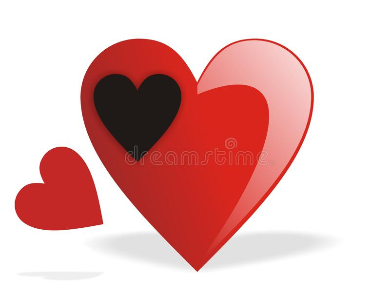Valentine Fill heart emptyness royalty free stock photography