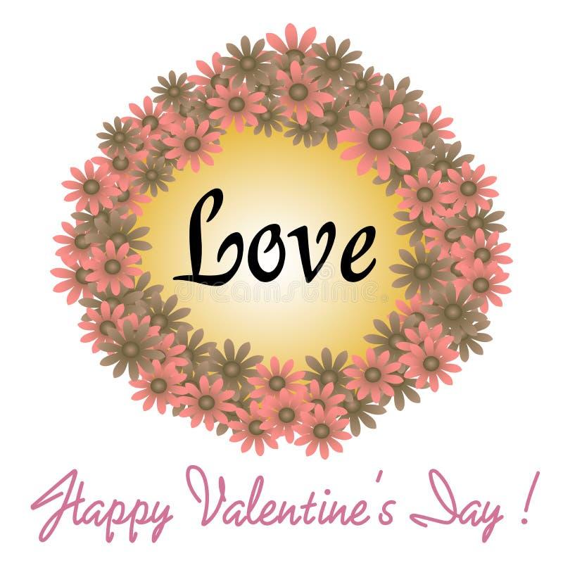 Valentine flower frame stock photo