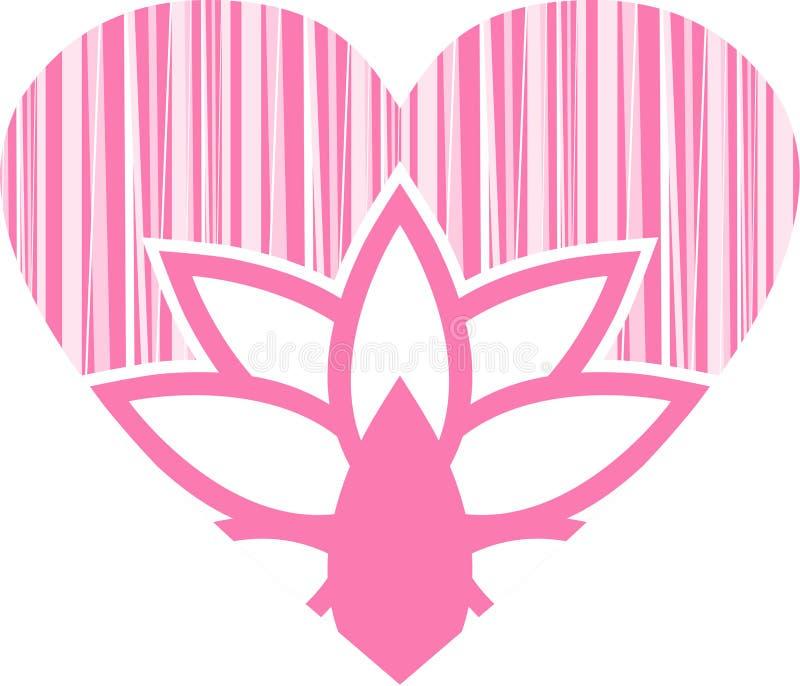 Valentine Flower Heart ilustración del vector