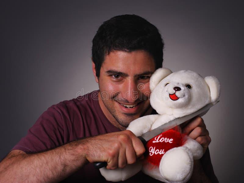 Valentine fou photographie stock