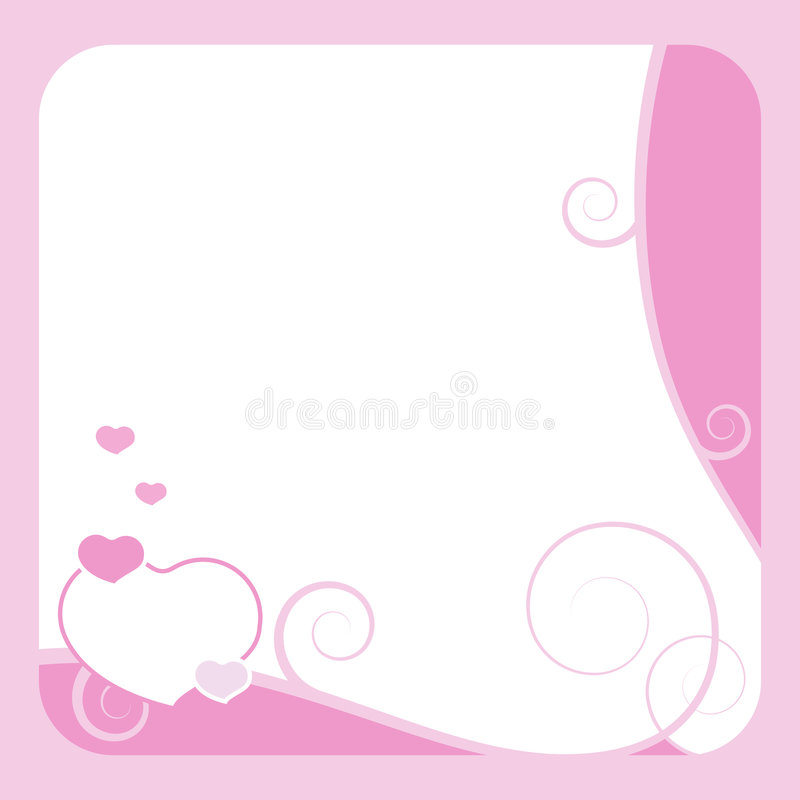 Valentine frame royalty free stock images