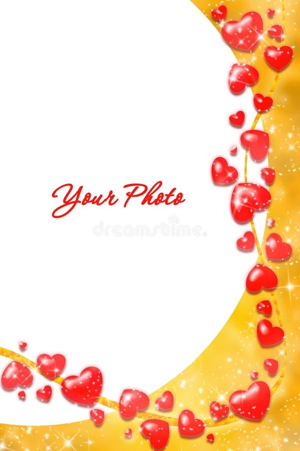 Valentine frame vector illustration