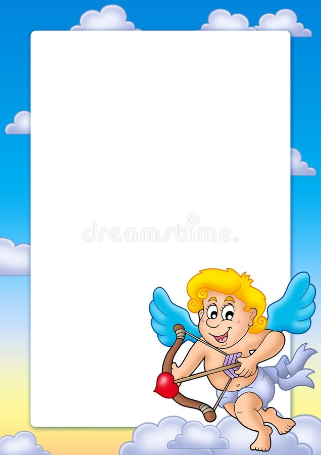 Download Valentine Frame With Happy Cupid 2 Stock Illustration - Image: 12516178