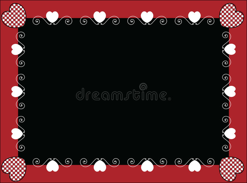 Download Valentine Frame Or Tag With Gingham Hearts Stock Vector - Image: 12437423