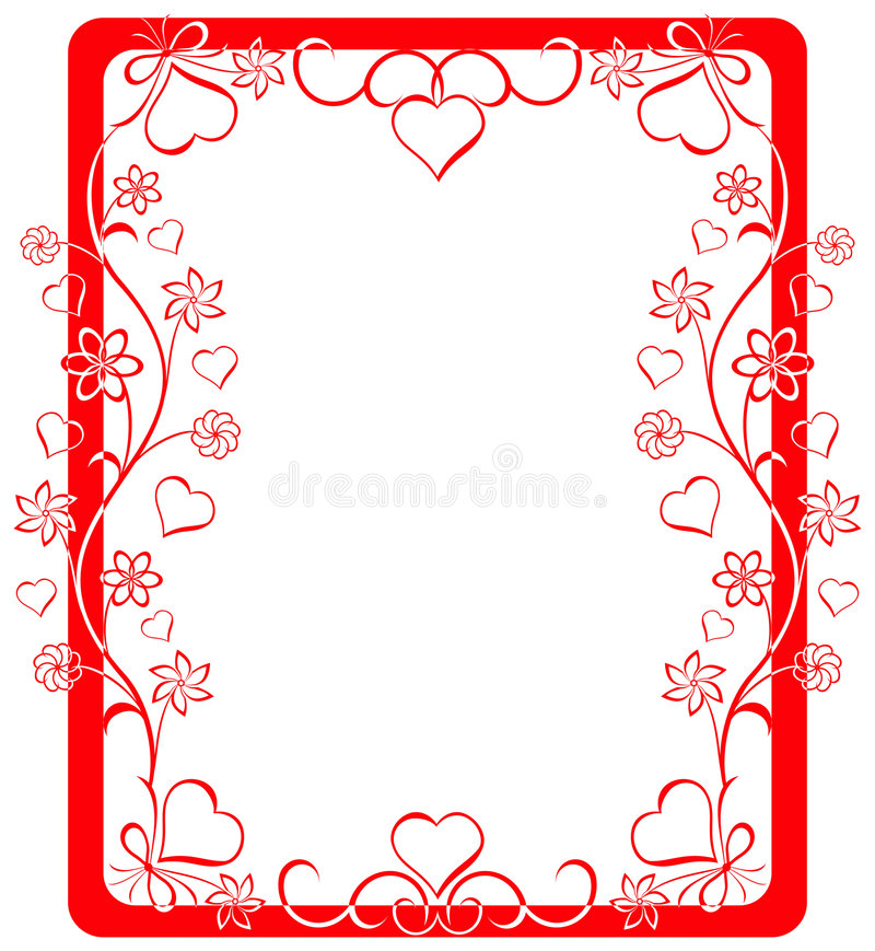 Valentine frame, vector stock illustration