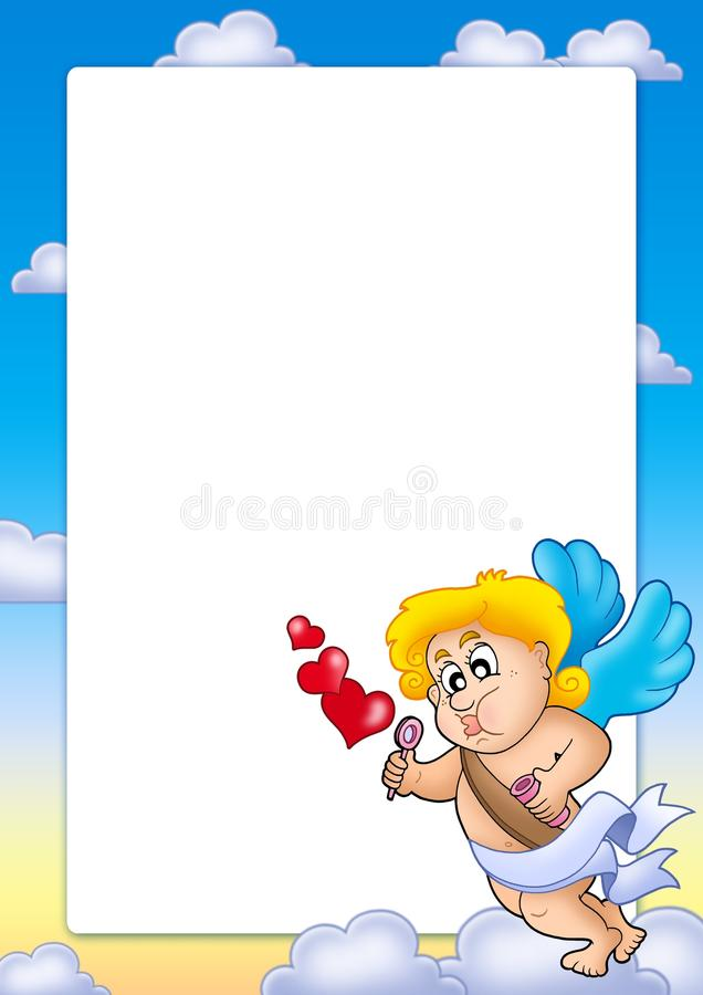 Free Valentine Frame With Happy Cupid 1 Stock Image - 12516171