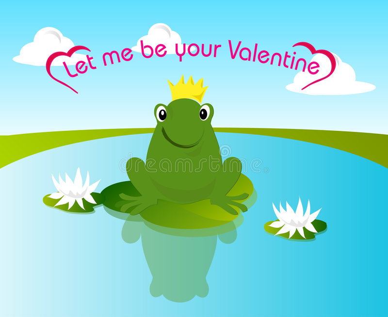 Valentine frog vector illustration
