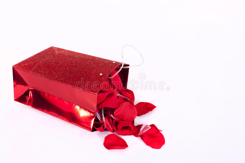 Valentine Gift With Flowers Stock Images