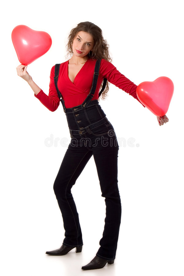 Download Valentine girl stock photo. Image of pretty, isolated - 4101954
