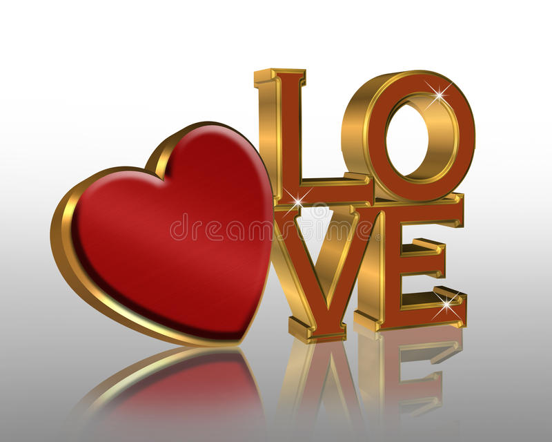 Valentine graphic red heart stock photography