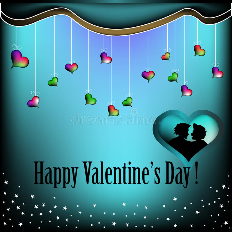 Valentine greeting stock images