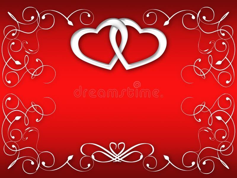 Valentine greeting card royalty free stock image