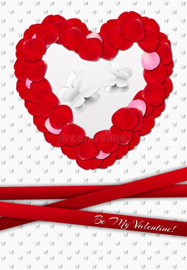 Valentine Greeting Card ilustração stock