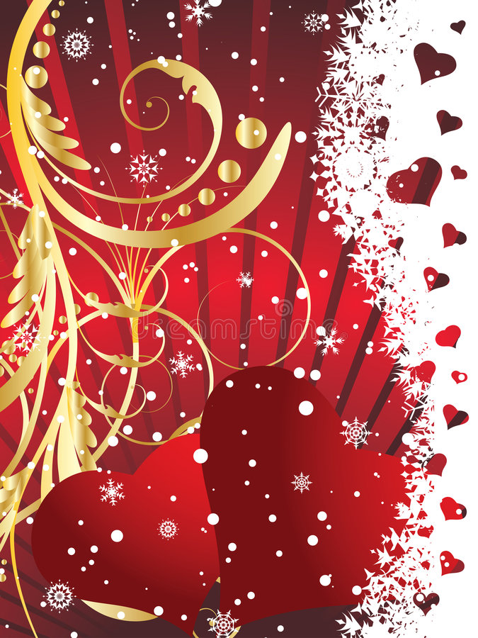 Download Valentine greeting card stock vector. Image of frame, february - 7665076