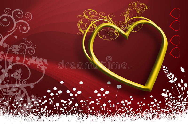 Valentine Greeting card cover design image royalty free stock images