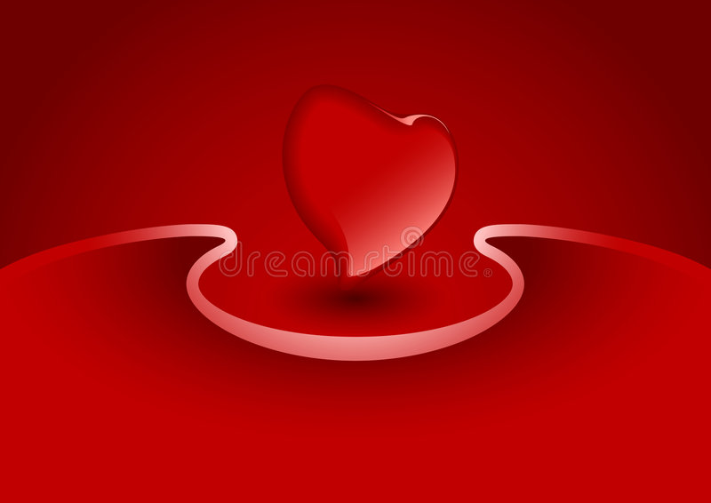 Download Valentine Greeting Card With Heart In Red Color, Vector Illustra Stock Vector - Illustration of abstract, greeting: 1819921