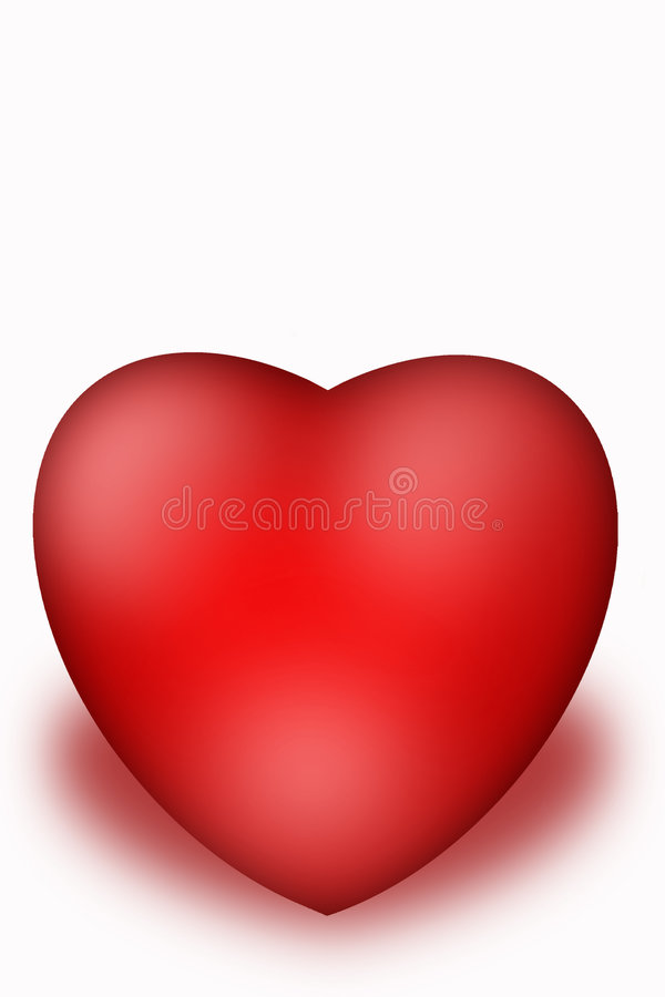Valentine Heart. Heart isolated on the white background vector illustration