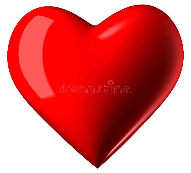 Valentine Heart stock illustrationer