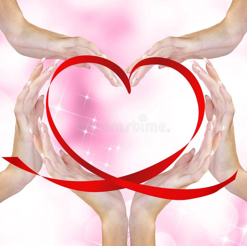 Valentine Heart royalty-vrije stock foto's