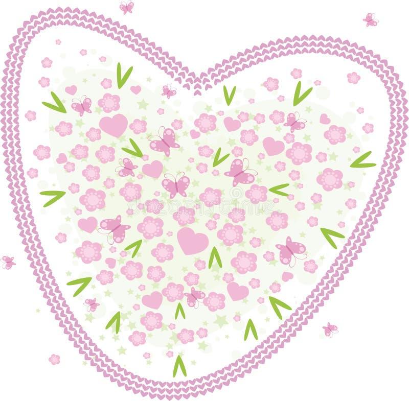 Valentine heart. Vector valentine background with hearts vector illustration