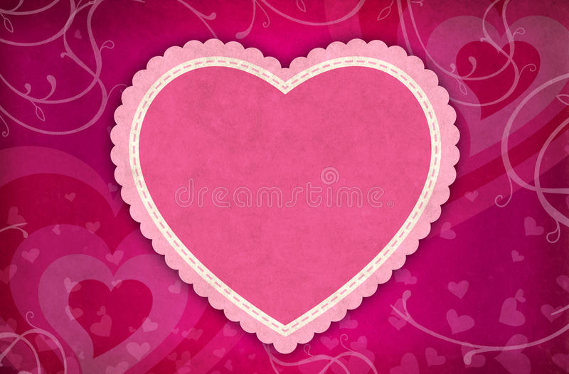 Download Valentine Heart Background stock illustration. Illustration of digital - 22821263
