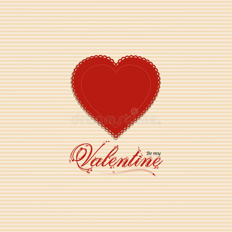 Valentine heart background with valentine message