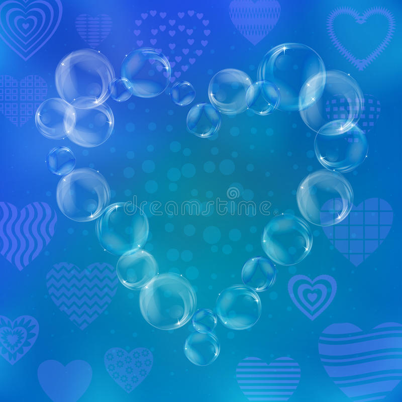 Download Valentine Heart From Bubbles Stock Illustration - Image: 19666269