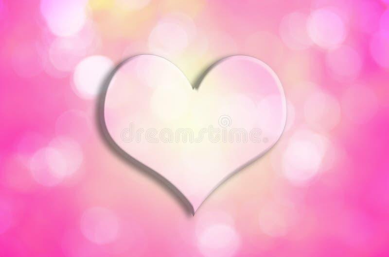 Valentine Heart con el fondo del bokeh foto de archivo libre de regalías
