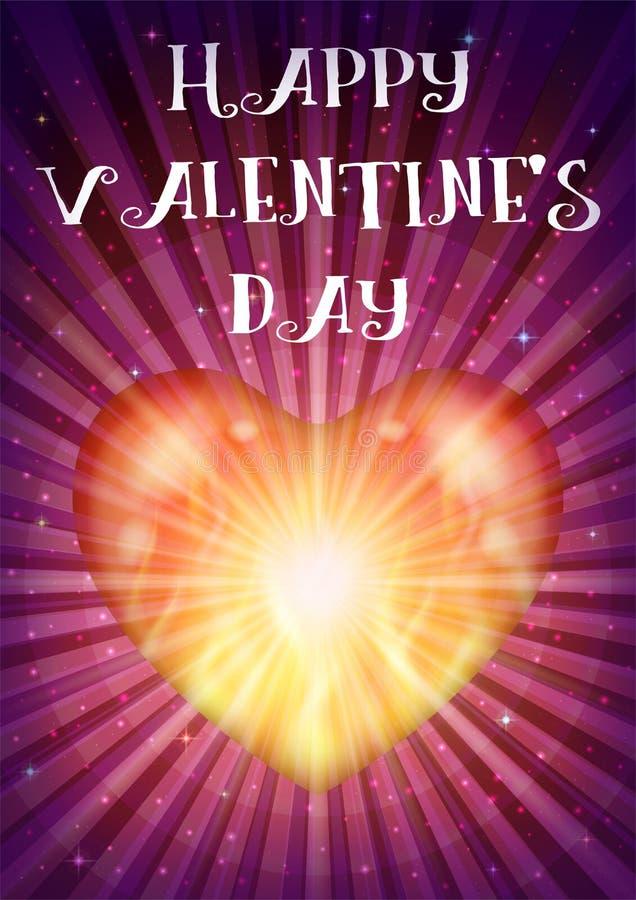 Valentine Heart de brilho ilustração royalty free