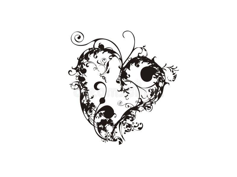 Valentine heart floral royalty free illustration