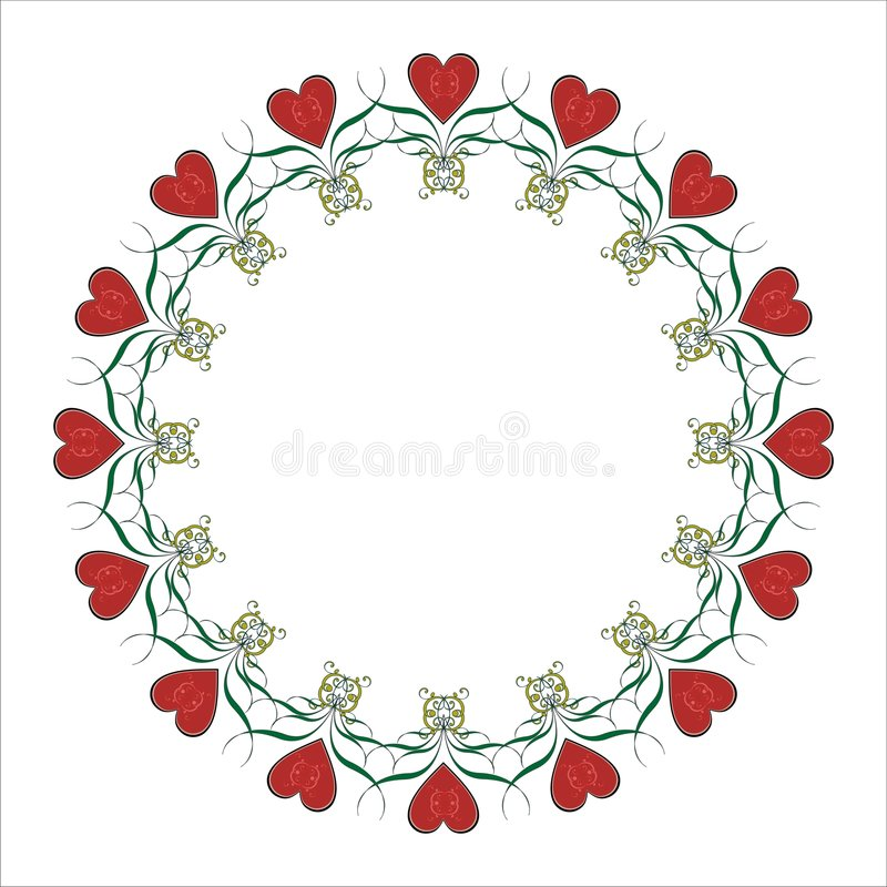 Free Valentine Heart Frame. Stock Images - 7646144