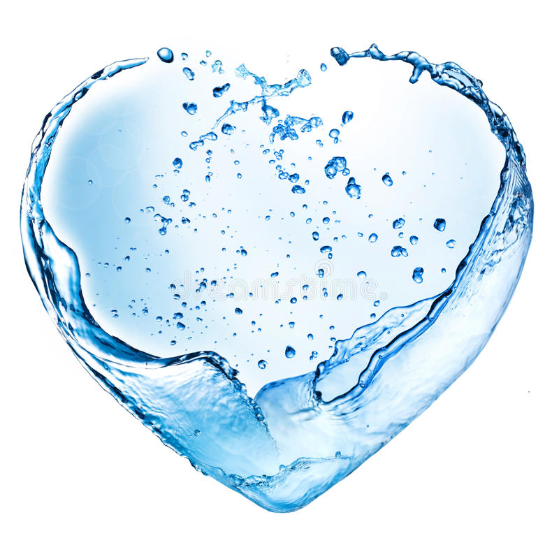 Free Valentine Heart Made Of Water Splash Stock Images - 25167434