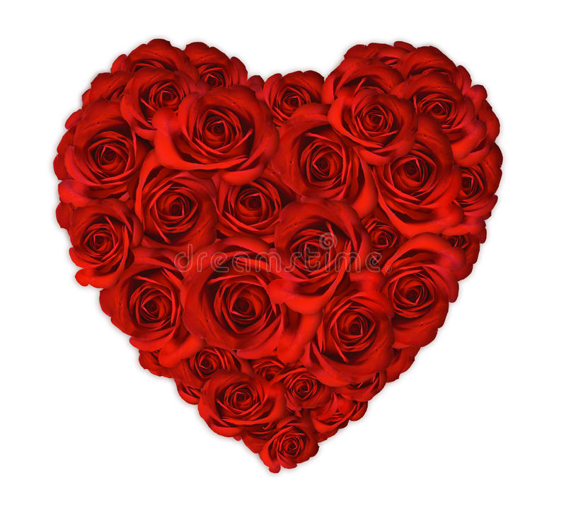 Free Valentine Heart Made Out Of Roses Stock Image - 12363681