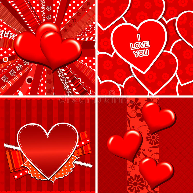 Download Valentine Heart Pattern And Background Stock Vector - Image: 23250535