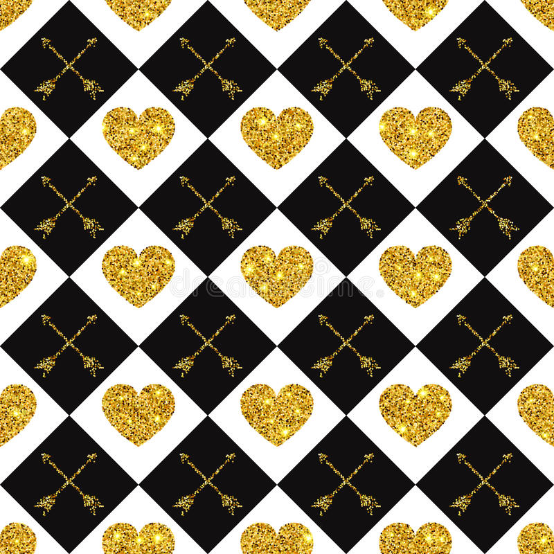 Free Valentine Heart Seamless Pattern 1 Royalty Free Stock Image - 64685196