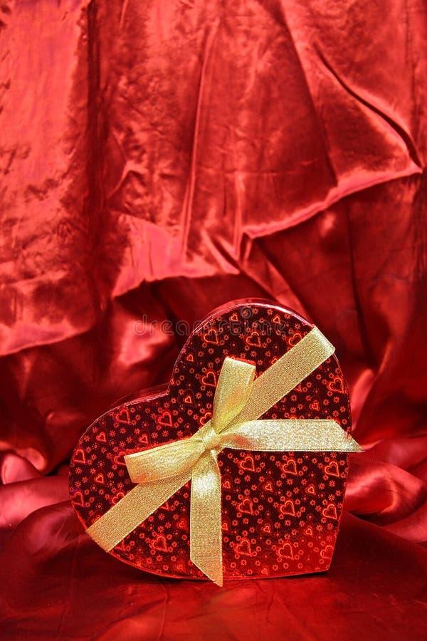 Valentine Heart Shape Gift Box stock foto's
