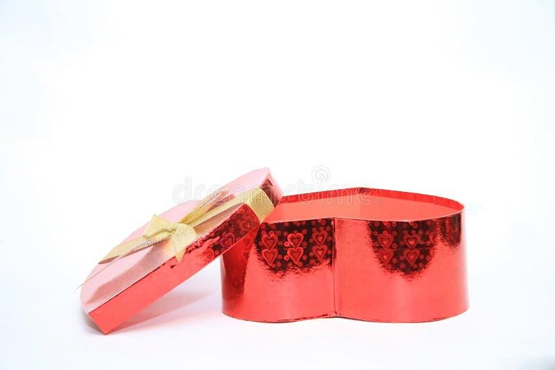 Valentine Heart Shape Gift Box royalty-vrije stock fotografie