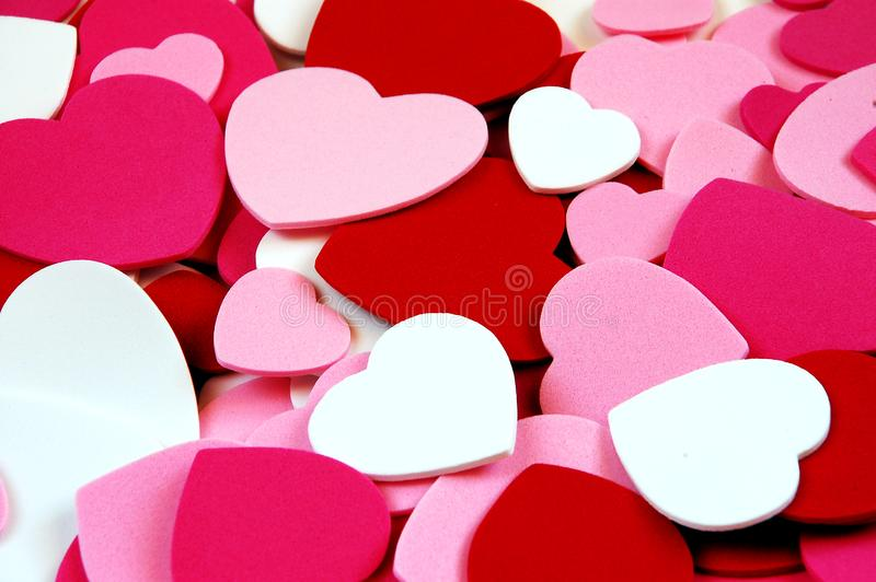 Valentine Heart Shapes Free Stock Photography