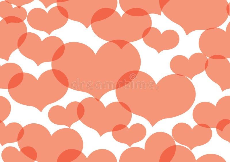 Valentine Heart Texture ilustração do vetor