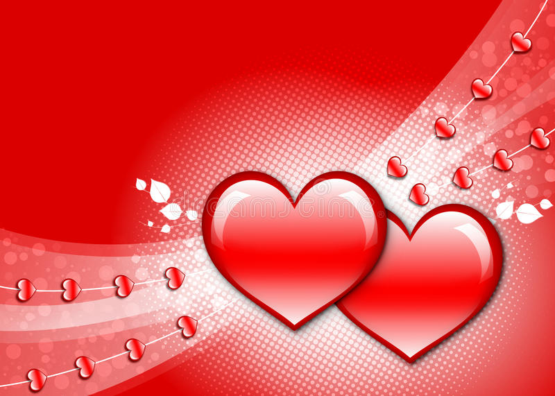 Download Valentine hearts stock illustration. Image of shiny, wallpaper - 28527942