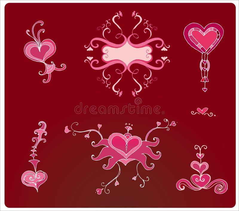 Valentine hearts vector illustration