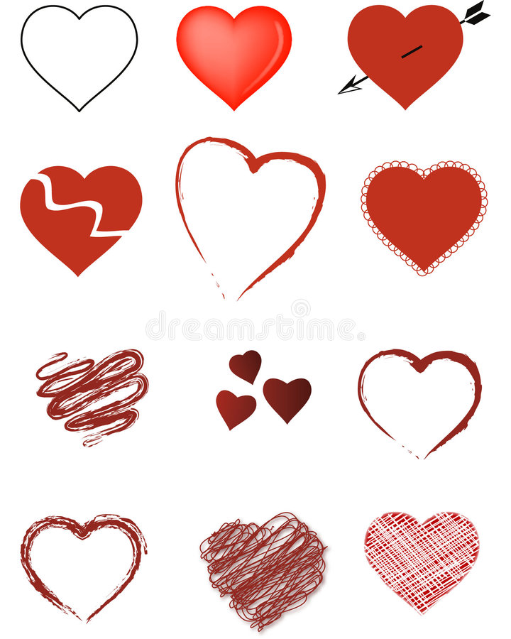 Valentine Hearts royalty free illustration