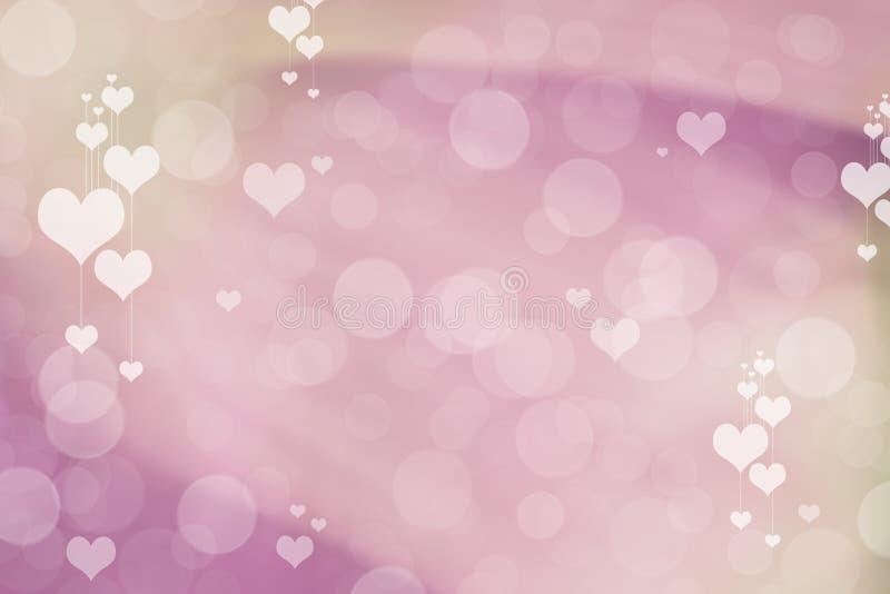 Valentine Hearts Abstract Background Papier peint du jour de StValentine photos stock