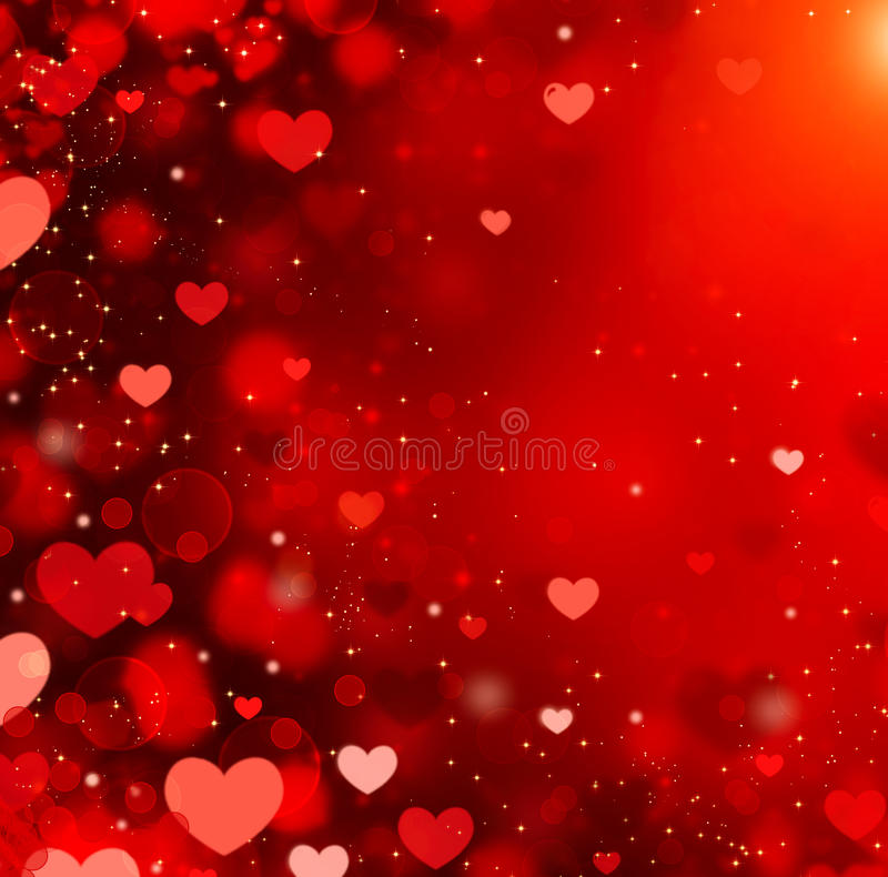 Valentine Hearts Background. Valentine Hearts Abstract Red Background. St.Valentines Day royalty free illustration