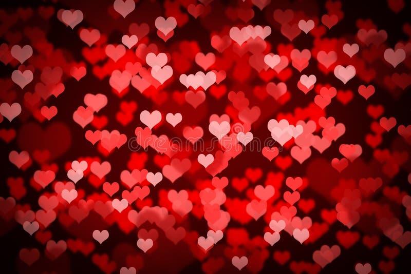 Valentine Hearts Background illustration stock