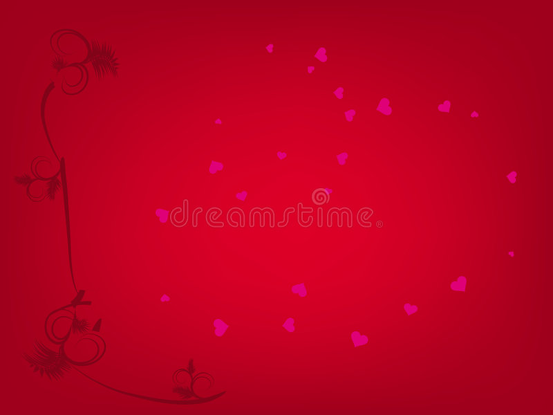 Valentine Hearts Background Royalty Free Stock Images