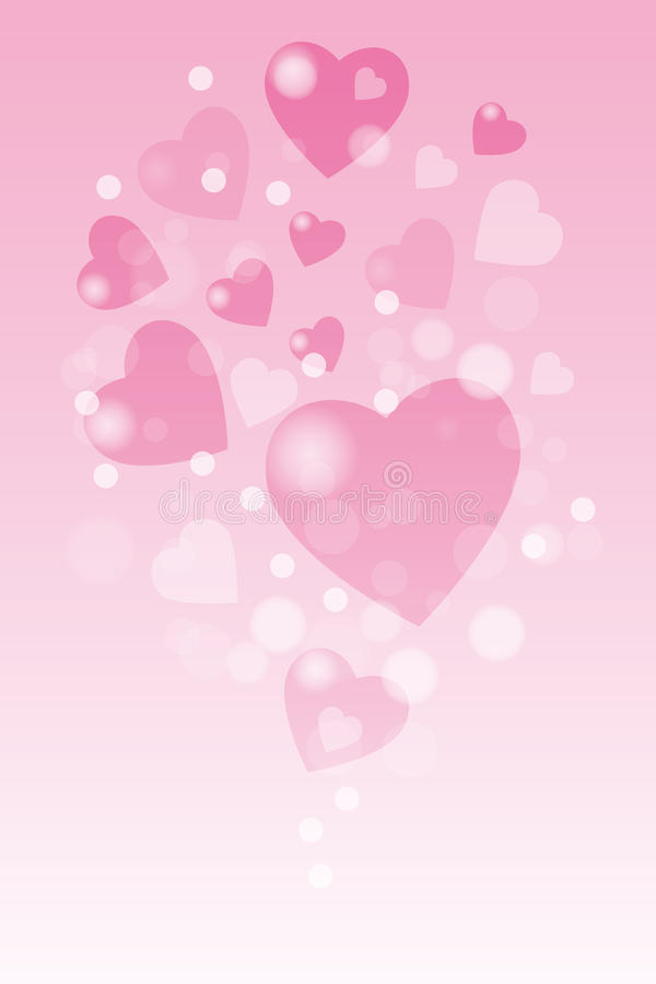 Valentine hearts background. With copy space - eps 10 vector stock illustration